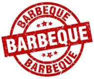 Barbeque stamp. Barbeque grunge stamp on white background stock illustration