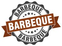Barbeque stamp. Barbeque grunge stamp on white background royalty free illustration
