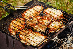 Barbeque Steaks Royalty Free Stock Image