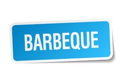 Barbeque sticker. Barbeque square sticker isolated on white background. barbeque royalty free illustration