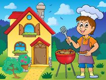 Barbeque theme image 3. Eps10 vector illustration royalty free illustration