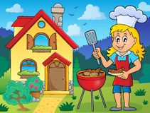 Barbeque theme image 6 vector illustration