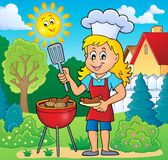 Barbeque theme image 5. Eps10 vector illustration royalty free illustration
