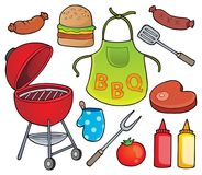 Barbeque theme set 1. Eps10 vector illustration stock illustration