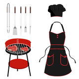 Barbeque tools Stock Images