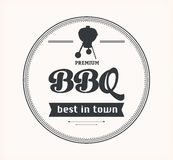 Barbeque vintage sign on white background Stock Photo