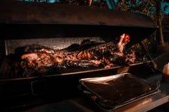 Barbequed猪 图库摄影