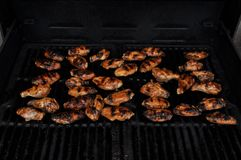 Barbequed Chicken on the Grill Stock Photo