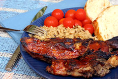 Barbequed Country Style Spareribs. Stock Photography