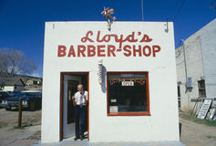 Barbería pueblerina Imagen de archivo libre de regalías