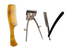 Barber accessories Royalty Free Stock Photo