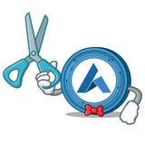 Barber Ardor coin character cartoon. Vector illustration Royalty Free Stock Photos