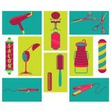 Barber Beauty y vector e icono del salón Foto de archivo libre de regalías