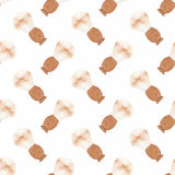 Barber brush. Seamless watercolor pattern with old Royalty Free Stock Image