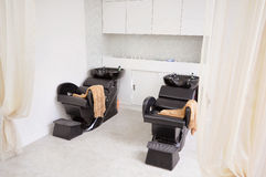 Barber chair.  Royalty Free Stock Images