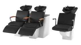 Barber chair isolated. Salon spa head wash. Barber chair isolated. Salon spa at the white background Stock Images