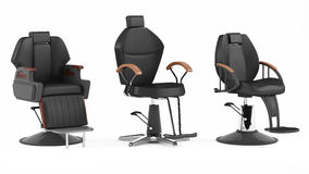 Barber chair isolated. Salon spa Stock Image