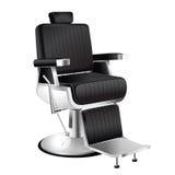Barber Chair nera Fotografia Stock