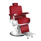 Barber Chair rossa Immagini Stock