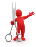 Barber (clipping path included) Royalty Free Stock Image