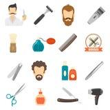 Barber Color Icons Lizenzfreie Stockfotografie