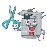 Barber copier machine in the cartoon shape. Vector illustration stock illustration