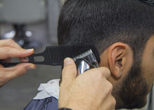 Free Barber Cutting Hair Stock Photos - 44947483