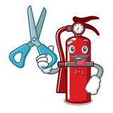 Barber fire extinguisher character cartoon. Vector illustration Royalty Free Stock Image