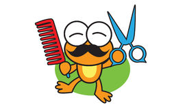 Barber Frog Royalty Free Stock Photos