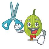 Barber gooseberry character cartoon style. Vector illustration Stock Images