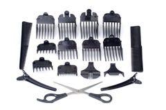 Barber hair set royalty free stock image