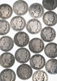 Barber Half Dollars. Stock Images