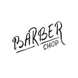 Barber. Hand draw lettering in vector. Barber shop modern  calligraphy in vintage style. Best for barbershops, chalk board, print design, web, t-shirts design Royalty Free Stock Images