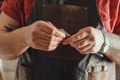 Barber Hands Closeup Fotografía de archivo libre de regalías