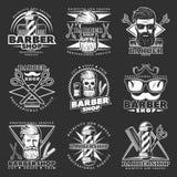 Barber Hipster Emblem Set Photos stock