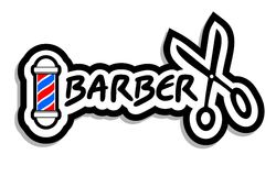 BArber icon. Creative design of barber icon Royalty Free Stock Image
