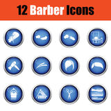 Barber icon set. Royalty Free Stock Images