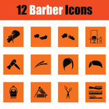 Barber icon set Stock Photography