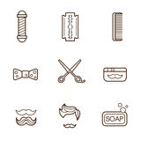 Barber Icons Stock Photos