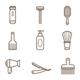 Barber Icons Stock Photography