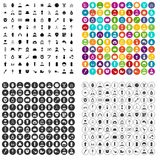 100 barber icons set vector variant. 100 barber icons set vector in 4 variant for any web design isolated on white vector illustration