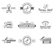 Barber Label Black Immagini Stock