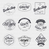 Barber label sticker badge hand-lettering, can be used to design signage brochures presentations Royalty Free Stock Photo
