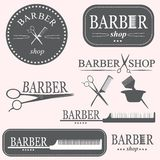 Barber logo. Vector elements for barbers royalty free illustration