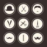 Barber Logos vektor illustrationer