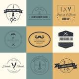 Barber Logos royaltyfri illustrationer
