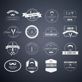 Barber Logos. Perfect set of barber and haircut logos. Men's haircuts logo collection made in . Badges, labels and design elements vector illustration