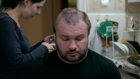 Barber stock video