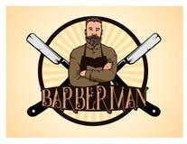A barber man Royalty Free Stock Photos