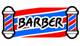 Barber message Royalty Free Stock Images